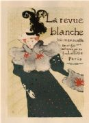 Vintage La Revue Blanche, French Advertising Poster.